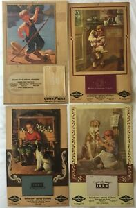 GOODYEAR CALENDARS 1941-50 - BOY FISHING & BOYS WITH DOGS