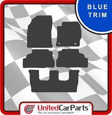 TOYOTA PRIUS + 7 SEATER (2012-ON) RUBBER CAR MATS & BLUE TRIM GENUINE UCP 2720