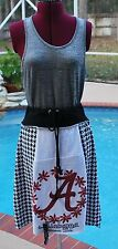 Alabama Crimson Tide Tie Waist Bohemian Hippie Upcycled Skirt Yoga Band NEW S/M