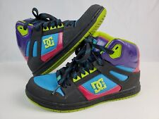DC Rebound Hi Top Women's Size 9 Skateboard Shoes Sneakers Patent leather