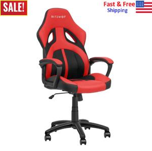 Office Gaming Chair Racing PU + Mesh Massage Executive Computer Desk Seat Swivel