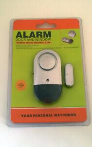 Door and Window Magnetic Sensor Triggered Alarm
