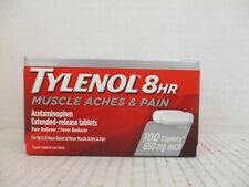 3 TYLENOL 8HR MUSCLE ACHES & PAIN RELIEVER 650mg 100 CAPLETS EACH 6/20 AW 2138