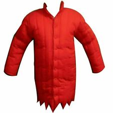 Medieval thick padded Viking Clothing Red Gambeson Costumes Armpits jacket coat