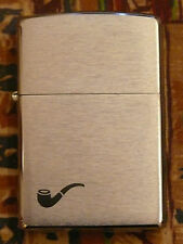 PLAIN ZIPPO PIPE LIGHTER FREE P&P FREE FLINTS