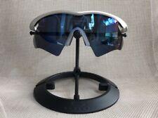 RARE Oakley M Frame FMJ 5.56 Silver Ice Iridium Blue Heater Cycling + Case