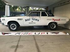 "Decals - ""Bad News"" Super Stock 65 Plymouth Belvedere Built By Dick Brinkley."