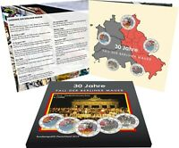 Deutschland 5 x 2 Euro 2019 Mauerfall Komplettsatz A D F G J in Farbe im Folder