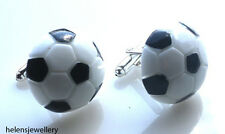 GORGEOUS HANDMADE LARGE FOOTBALL CUFFLINKS + FREE GIFT BAG