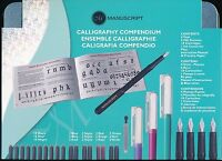 Manuscript Calligraphy Compendium tin case set NEW Made in UK