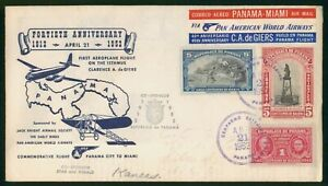 Mayfairstamps Panama 1952 Flight on Isthmus Anniv Monument Man Costume Cover wwp