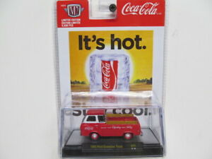 M2 Coca-Cola  SERIES - Red 1965 Ford Econoline Truck  w/ Rubber Tires