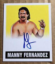 Manny Fernandez 2017 Leaf Originals Yellow Autograph The Raging Bull NWA #d/99