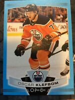 O-Pee-Chee 2019-2020 OSCAR KLEFBOM BLUE BORDER HOCKEY CARD #12