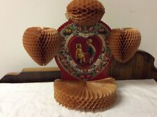Vintage Antique Valentine Stand Up Card With 00006000  Honeycomb 1930's?