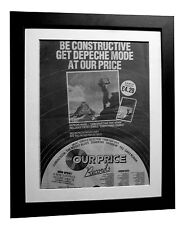 DEPECHE MODE+Construction+POSTER+AD+RARE+ORIGINAL 1983+FRAMED+FAST GLOBAL SHIP