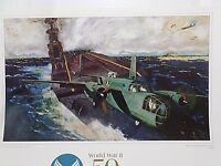 U.S. AIR FORCE GORGEOUS ART WWII, 12 LARGE PRINTS, 50TH ANNIVERSARY FINE ART