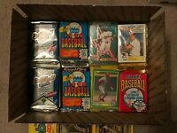 1800 Unsorted Baseball Cards with 35 various packs and sets Lot - 1985 – 2004