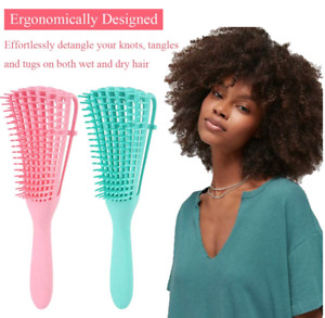 The EZ Detangler Hair Brush Anti-Static Scalp Comb Salon Styling Smooth Tool USA