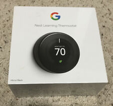 Nest 3rd Generation Learning Black Mirror Programmable Thermostat Brand NEW