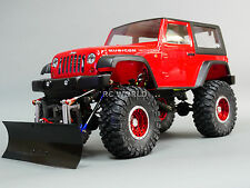 Custom 1/10 All METAL JEEP WRANGLER SNOW PLOW 2-SPEED Tranny 4WD 2.2  *RTR*