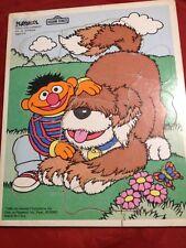 1988 Vintage Sesame Street Ernie And Barkley 12 Pc. Wood Puzzle