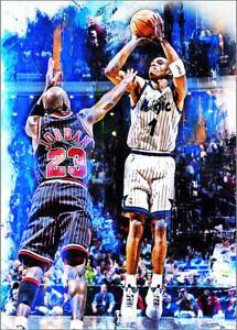 2021 Anfernee Hardaway Orlando Magic Basketball 1/25 Art ACEO Print Card By:Q