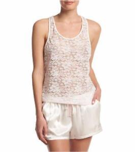 LINEA DONATELLA® S, M, L Pink/White Lace & Satin Bridal Shorts Sleep Set NWT