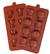 Lion Hippo Bear Silicone Soap mold Candy Chocolate Fondant Tray mould ICE Cube