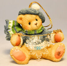 Cherished Teddies - Bear With Dangling Snow Flakes - 272175 - Hanging Ornament