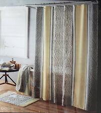 NIP Parker Loft Brand, Fabric Shower Curtain New in Package Leaf Stripe Pattern