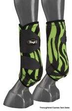 New listing Green Zebra Extreme Vented Neoprene Size Large Rear Sport Boots Horse Tack