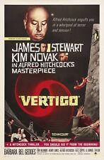 Vertigo movie poster (b) : 11 x 17 inches : Alfred Hitchcock, James Stewart
