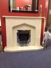 "BLANDFORD MARBLE FIRE SURROUND WITH LIGHTS 48"" 0r 54"" WIDE"
