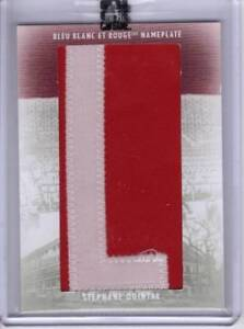 2008/09 Stephane Quintal Nameplate Memorabilia 1/1