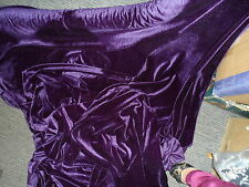 2 MTRS PLUM PURPLE VELVET / VELOUR FABRIC  WITH  STRECH 58INCHES WIDE