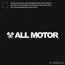 (2x) All Motor Sticker Die Cut Decal Self Adhesive Vinyl jdm normally aspirated