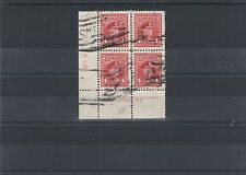 war Issue Plate block used #9 LL #254  Canada used