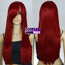 70cm Dark Red Heat Styleable Long Cosplay Wigs 76_DDR