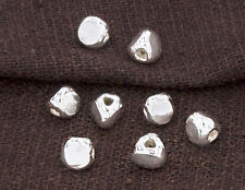 Karen Hill Tribe Silver 10 Faceted Beads 5x4.5 mm.