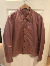 Mens Tiger of Sweden Dusty Pink Coaches Stadium Bomber Jacket Sz XL