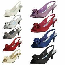Ladies Spot On Peep Toe 'Heels'