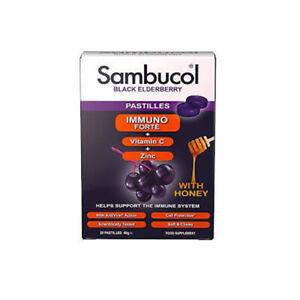Sambucol Pastillas Inmuno Forte Vitamina C y Zinc Con Miel 20 Pastillas