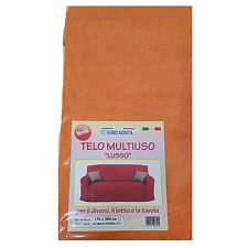 Mobilier de tissu couleur orange 170x280 couvre tout granfoulard Housse Coton