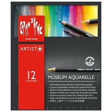 CARAN D'ACHE MUSEUM AQUARELLE COLOUR PENCILS - 12 Assorted Watercolour Pencils