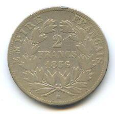 II Empire Napoleon III (1852-1870) 2 Francs Tête nue 1856 BB Strasbourg