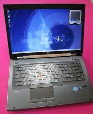 HP 8760w elitebook laptop I7-2640m 2.8-3.5Ghz 8GB ram NEW 500GB K2100m W7 1080