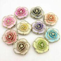 Rose Flower Hanger Foldable Handbag Purse Bag Hook Desk Table Holder-# F7K0