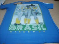 Genuine Ringspun Men's Football World Cup 2014 Grande Brazil T-Shirt, Royal
