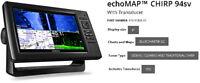 Garmin echoMAP CHIRP 94sv w/ Transducer 010-01805-01, ClearVu/SideVu/Traditional